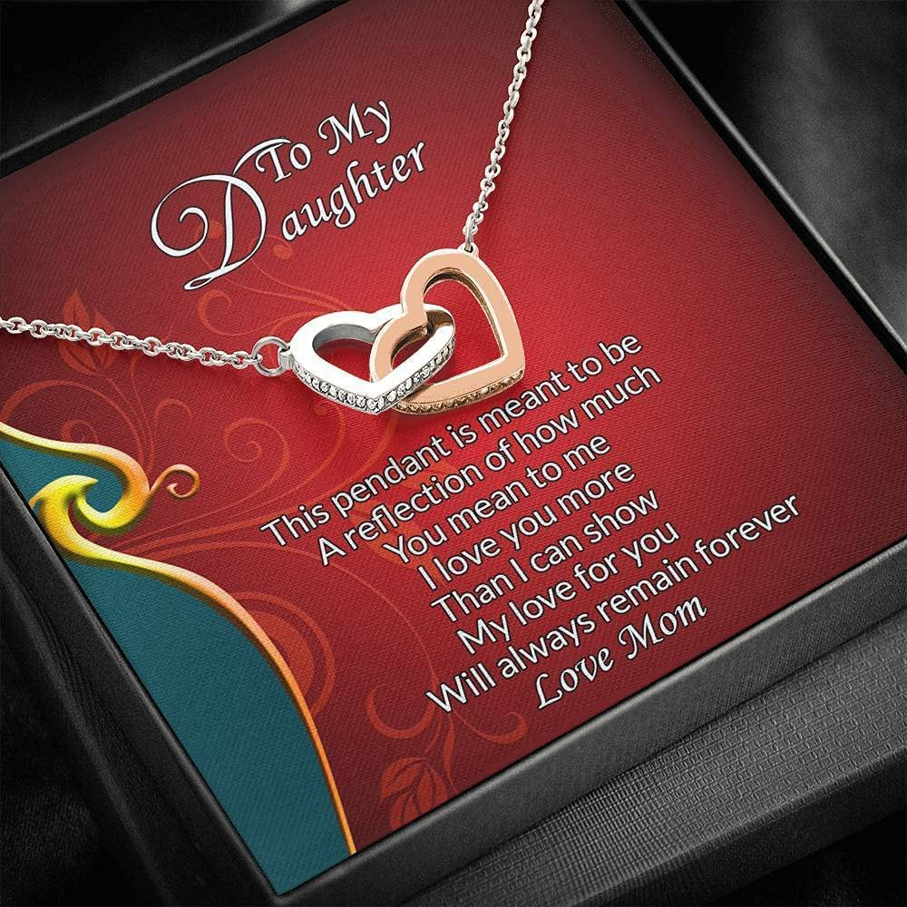 Message Card Max 77% OFF Jewelry Pendant 2021 model Necklace Love To - My Daughter