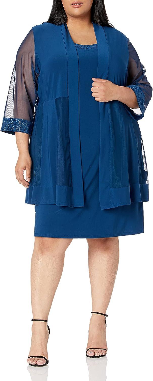 RM Richards 人気海外一番 Women's Glitter Jacket Trim Dress 日本未発売