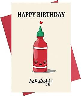 Happy Birthday Hot Stuff Birthday Card | Funny Birthday Card for Him Birthday Greeting Card for Her