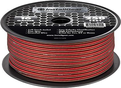 InstallGear 9 Gauge Speaker Wire Cable, 9 feet