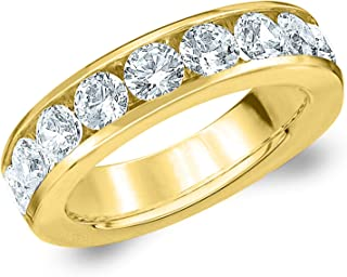 2 CT Classic Channel-Set Lab Grown Diamond Ring in 14K Gold, Sparkling in F-G Color and VS Clarity