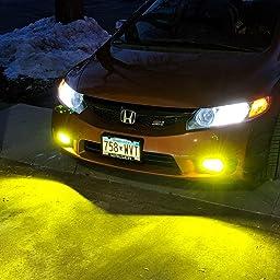 For 09-11 Honda Civic FA5 Sedan 8th Gen JDM Golden Yellow Fog light Running Lamp