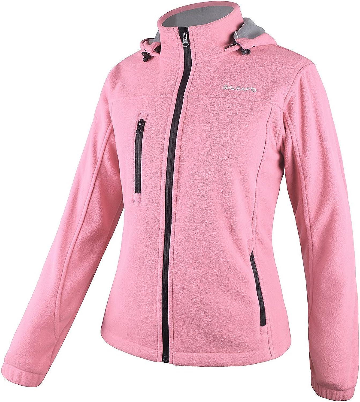 Baleaf Women's Fleece Full Zip Hoodie Jacket Detachable Hood