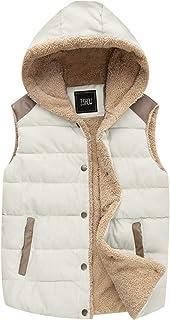 ZSHOW Women's Outwear Casual Thicken Qulited Hooded Vest Padded Fleece Jacket