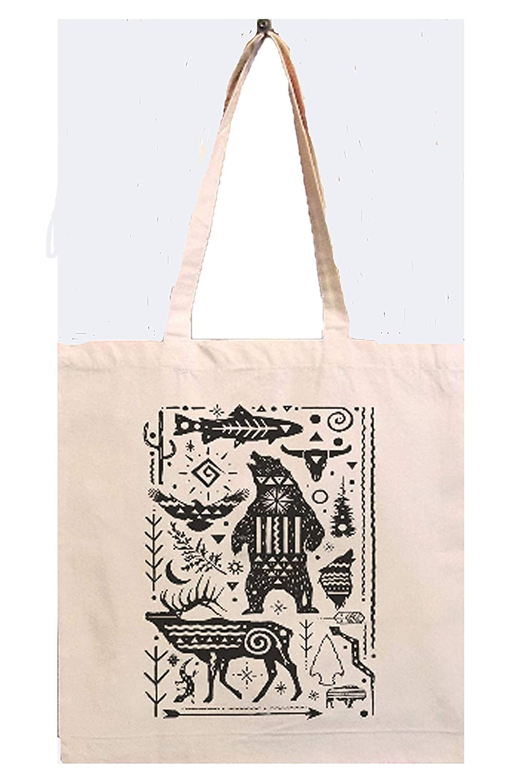 Canvas Popular brand Tote Bag 5 popular by – Lantern Black Reusable
