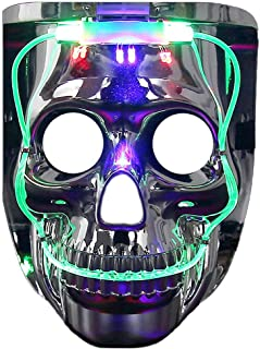 Light up Mask, LED Halloween Scary Mask Costume for Men Women Kids