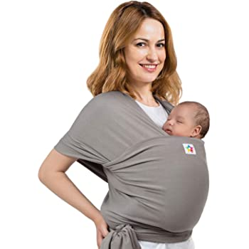 Baby Wrap Carrier - Premium Cotton - Ergonomic Wraps for Toddler, Newborn, Infant, Child - Front, Hip and Kangaroo Holder – Versatile Wearing Slings for Men and Women