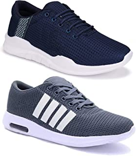 Shoefly Men Multicolour Exclusive Range of Casual Sports Running Shoes-Pack of 2 (Combo-(2)-9064-9170)