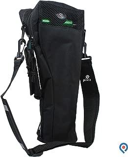 Pivit Oxygen Cylinder Shoulder Bag with Flex Shoulder Strap, B/M6 Tanks, Black | Adjustable Padded Comfort Flex Shoulder Strap | Mesh Window Panel For Easy Viewing | Non-Flammable Durable Nylon Fabric
