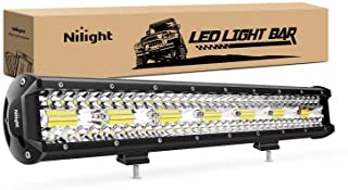 Nilight 18024C-A 420W 20Inch Triple Row Flood Spot Combo 42000LM Bar Driving Boat Led Off Road Lights for Trucks,2 Years