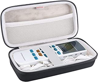 مورد مسافرت BOVKE Hard EVA برای FDA Cleman HealthmateForever YK15AB TENS Unit Tens Elbow Electronic Pulse Massager Tennis Elbow، Black