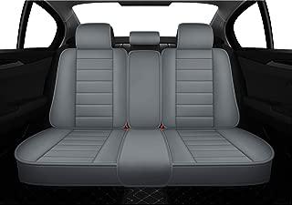 LUCKYMAN CLUB Bench Seat Covers fit for Subaru Outback Crosstrek Forester Legacy Toyota Tacoma Rav4 Corolla Camry Prius Fj Cruiser Impreza (Rear Seat Covers, Gray)