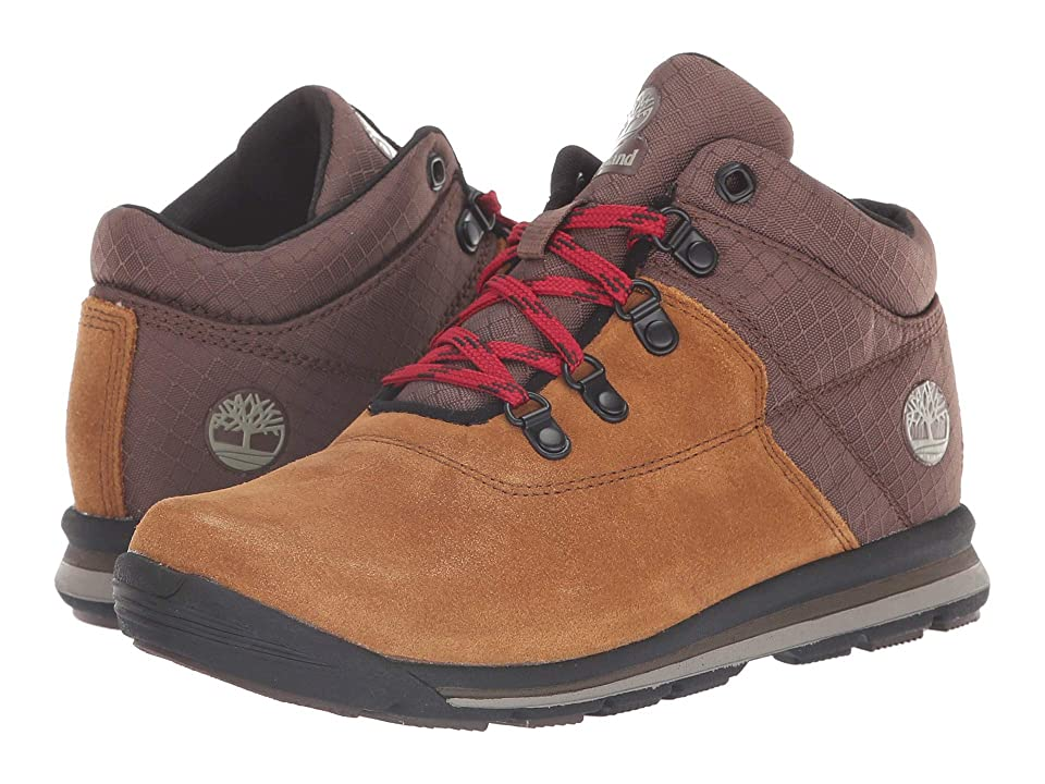 Timberland Kids GT Rally Mid (Big Kid) (Medium Brown Suede/Fabric) Kids Shoes