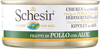 Schesir Dog Chicken Fillets with Aloe Jelly Can 150g