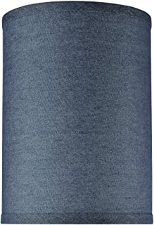 Aspen Creative 31112, Transitional Hardback Drum (Cylinder) Shaped Spider Construction Lamp Shade in Washing Blue, 8