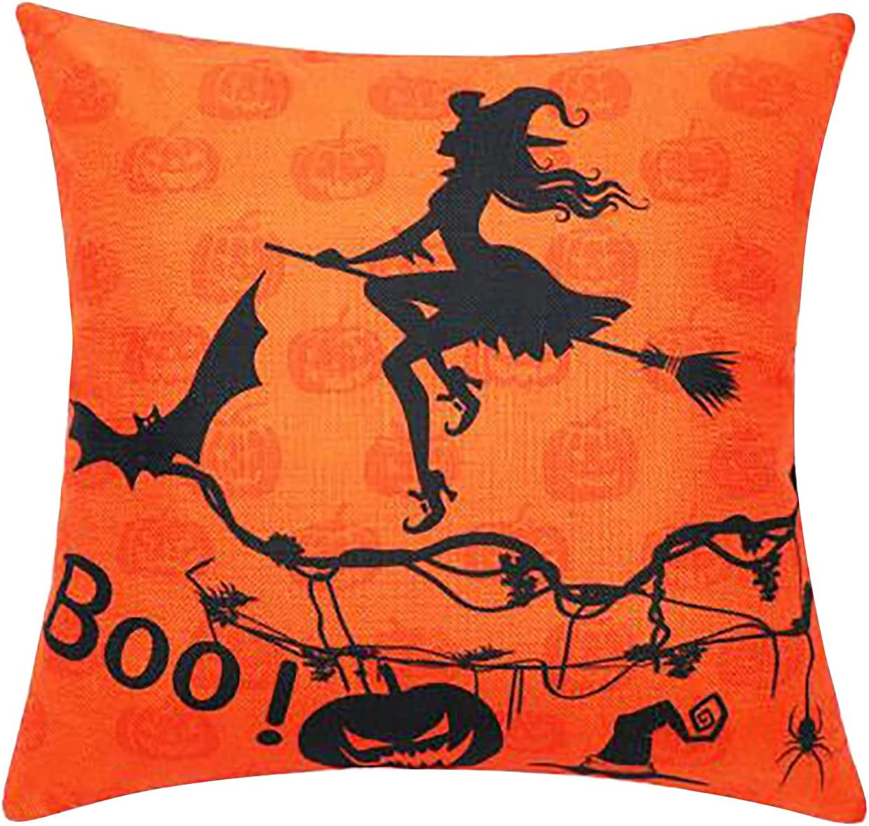 Halloween Decorations El Paso Mall Imitation Linen Topics on TV Printing Digital Pillowca