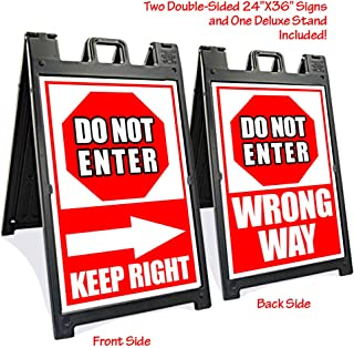 Black Signicade Deluxe with Two Do Not Enter Signs