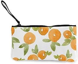 Rterss Münzbörse Geldbörse Geldbörse Geldbeutel Geldbeutel Geldbeutel Schlüsselhalter Handy Tasche mit Griff bedrucktes Segeltuch Aquarell Abstraktes Orange Muster Vektorbild
