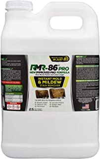 RMR-86 Pro Instant Mold Stain & Mildew Stain Remover - Contractor Grade Cleaning Solution, Professional Quality Formula, Odor Removal, 2.5 Gallon