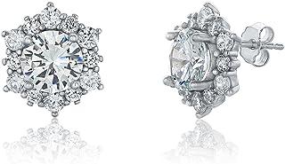 Montage Jewelry Women's Sterling Silver & Cubic Zirconia Snowflake Stud Earrings