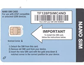 Straight Talk AT&T Compatible NANO Size SIM Card for AT&T Phones and Unlocked GSM Phones