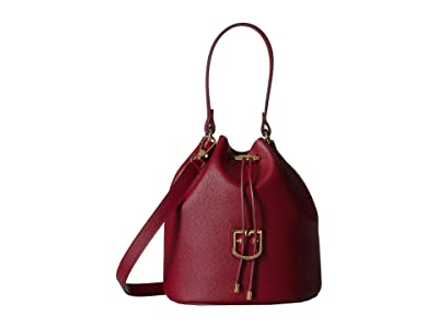 Furla Corona Small Drawstring Bucket Bag (Ciliegia) Handbags