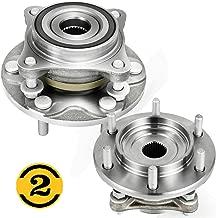 MotorbyMotor (4WD) Front Wheel Bearing Hub Assembly Fit Lexus GX460 GX470,Toyota 4Runner FJ Cruiser Tacoma Hub Bearing (2 Pack) w/6 Lugs, Replace 515040 4x4, Replace 950-001 515040