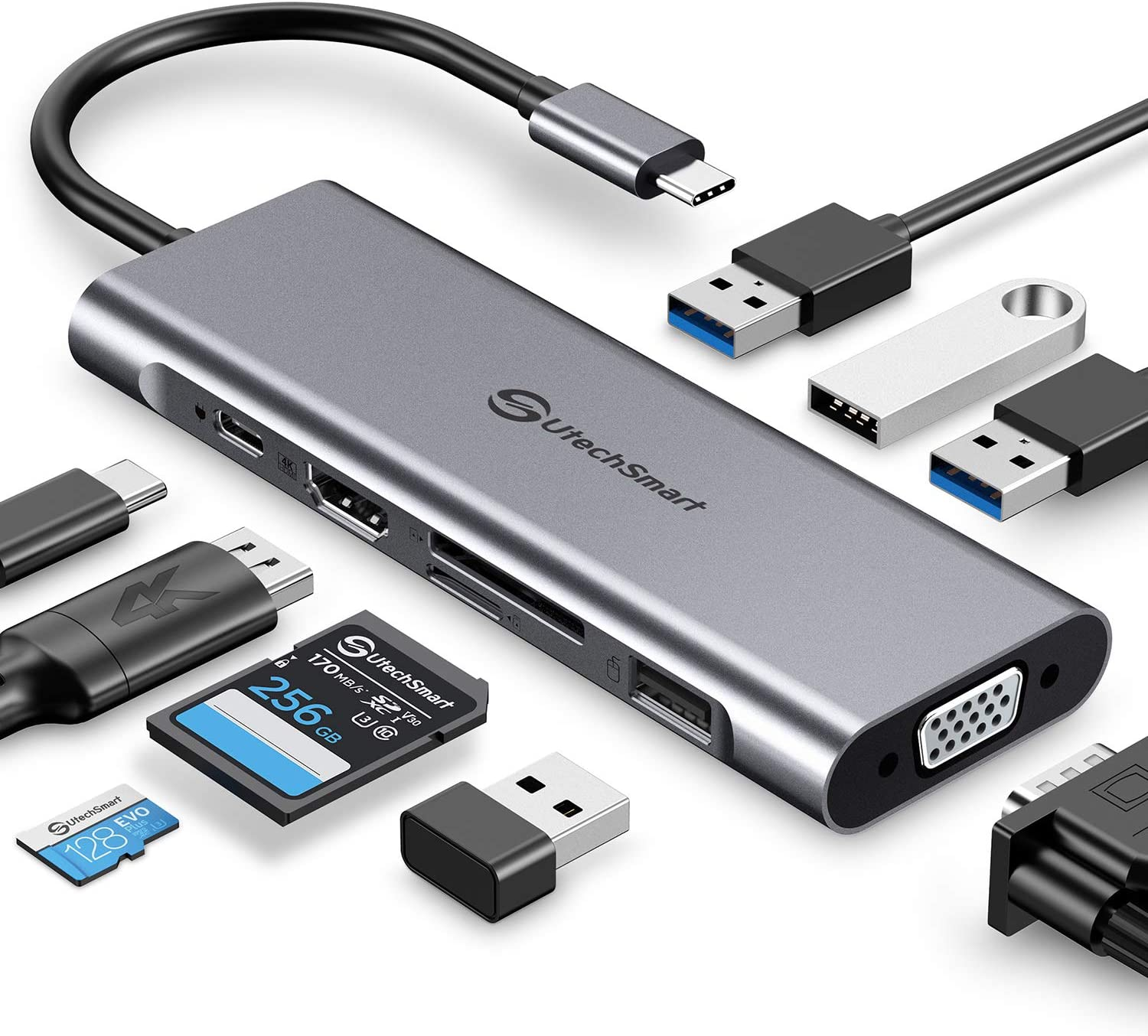 UtechSmart USB Shipping included C Hub Dock Display in1 Triple We OFFer at cheap prices 9