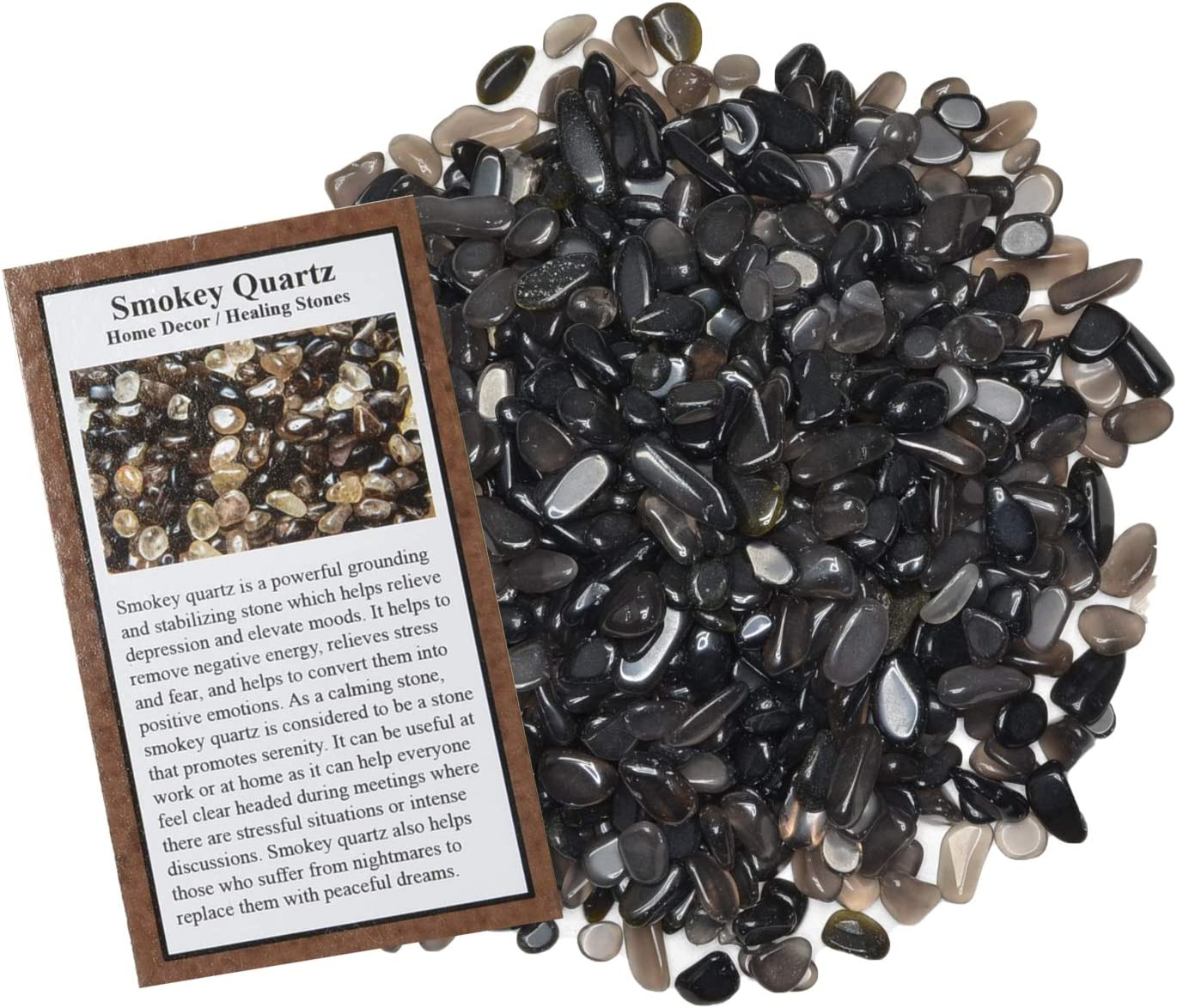 Digging Dolls: 3 lbs Popular overseas of OFFer Tumbled Smokey Quartz Dyed Chip Stones -