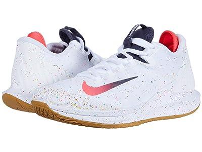 Nike Court Air Zoom Zero HC (White/Laser Crimson/Gridiron/Wheat) Men