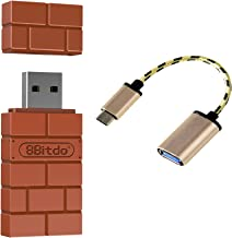 Mcbazel 8Bitdo PS4 PS3 Wiimote Remote Control Wii U Pro Controller to Nintendo Switch Windows Mac & Raspberry Pi Wireless Bluetooth Controller Adapter Convert with USB3.0 to Type-C OTG Cable