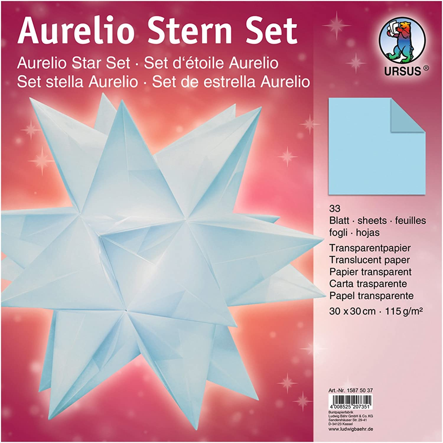 (30 x 30 cm, Light bluee)  Ursus Aurelio Star 15875500  Folding