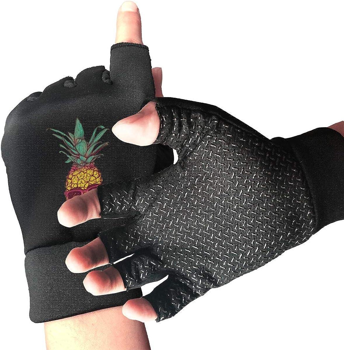 Gloves Skull Pineapple Fingerless Gloves Short Touchscreen Gloves Winter Motorcycle Biker Mitten
