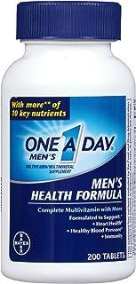 One A Day Multivitamin, Men's Health Formula , 200 Tablet Bottle - Pack of 4
