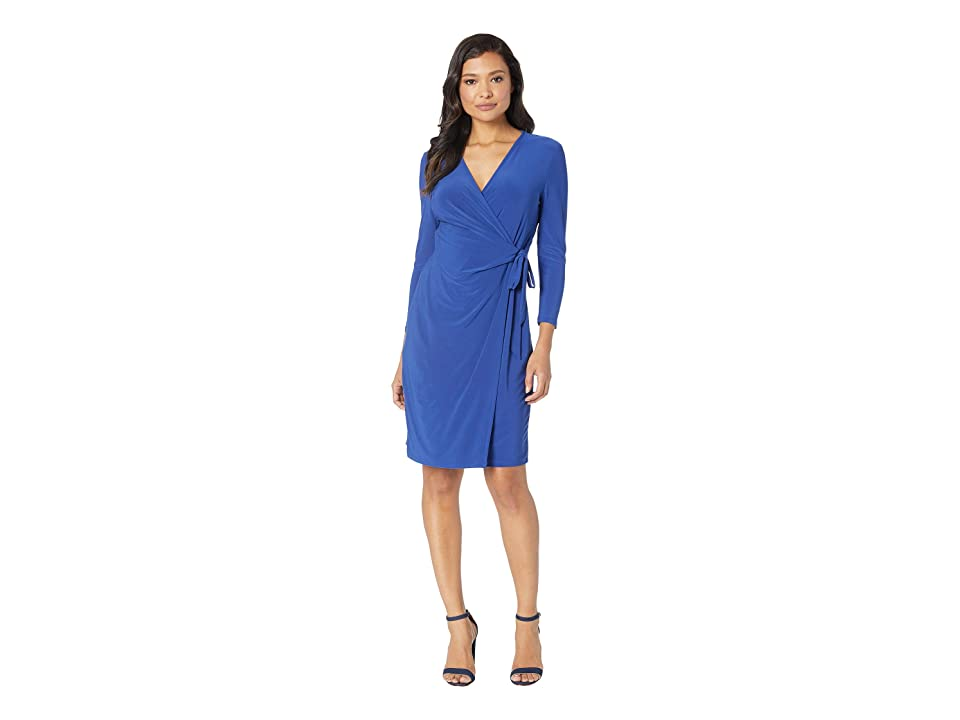 Anne Klein Solid Wrap Dress (Gauguin) Women