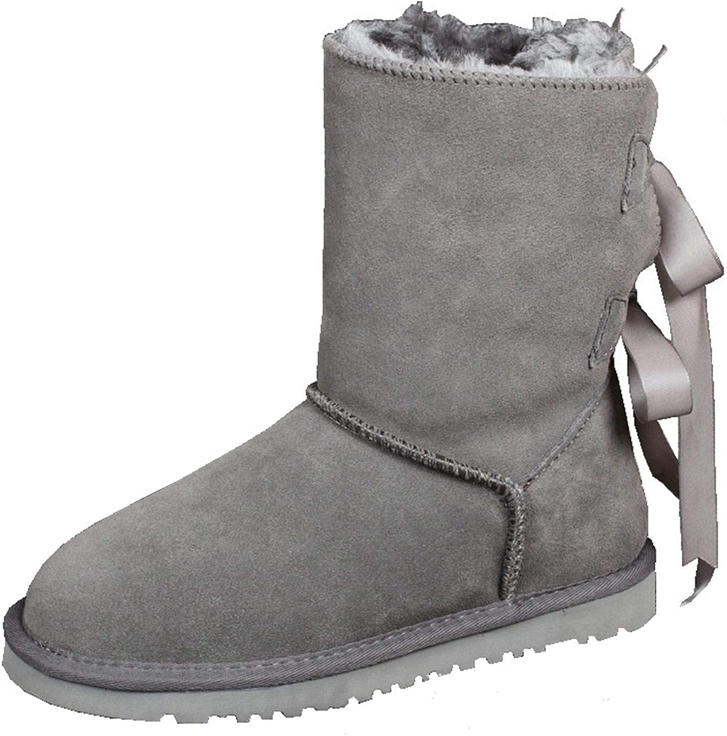 Women's 2018 Winter Leather Boots Women's shoes Snowballs and Hair