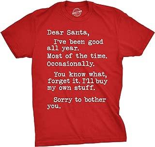 Mens Dear Santa I'll Buy My Own Stuff Tshirt Funny Tee for Guys