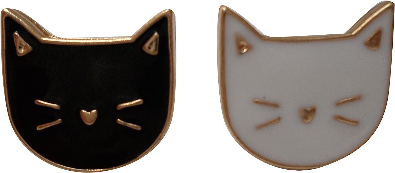 Zoe & Xander Cute Cat Enamel Lapel Pin Set