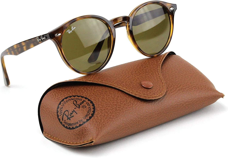 Ray Ban Rb2180 710 73 Highstreet Sunglasses Tortoise Frame Dark Brown Lens 49mm Clothing