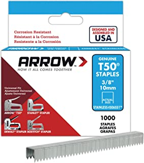 Arrow Fastener 506SS1 Genuine T50 Stainless Steel 3/8-Inch Staples, 1,000-Pack