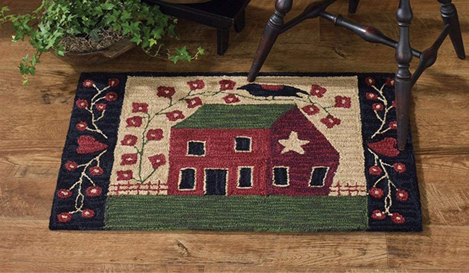 Park Designs Red House Hooked Rug, 24 x 36