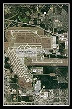 George Bush Intl Airport Houston Texas Satellite Poster Map L 24 x 36 inch