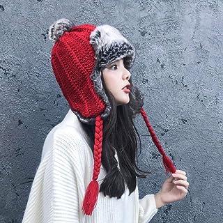 Luoistu sciarpa uomo invernali Sciarpa invernale a righe a maglia morbida calda per uomo e Donna,Unisex Sciarpa in Maglia con lana Vino rosso