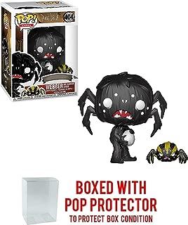Funko Webber & Warrior Spider: Don't Starve x POP! Games Vinyl Figure & 1 POP! Compatible PET Plastic Graphical Protector Bundle [#404 / 34688 - B]