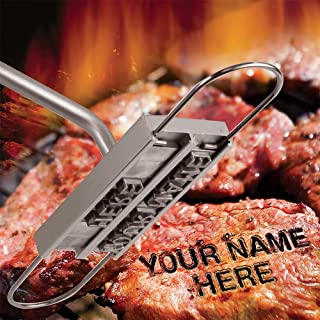 willway BBQ Meat Branding Iron with Changeable Letters Personalized Barbecue Steak Names Press Tool for Grilling