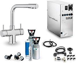 SPRUDELUX® Machine à gazéifier Nobius avec robinet soda 5 voies et sortie L pour usage domestique