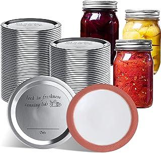 New 50 PCS Wide Mouth Canning Lids, Canning Jar Lids, Split-type Mason Jar Lids for kerr and Ball Canning Jars, Leak Proo...