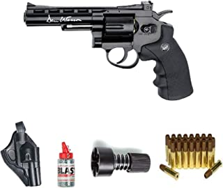 ASG ASG17176Kit-B Dan Wesson Revolver Steel BB Air Gun with Holster/Cartridges/Extra BBS/& Speed Loader, Black, 4