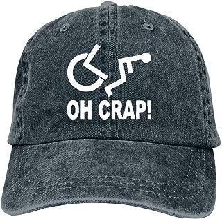YOHOMO Crap Handicap Wheelchair Unisex Vintage Adjustable Cotton Baseball Cap Denim Dad Hat Cowboy Hat