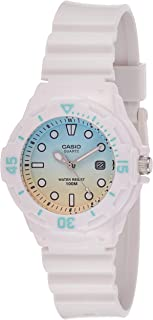 Casio Women's White Dial Resin Analog Watch - LRW-200H-2E2VDR